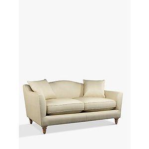 Croft Collection Melrose Medium 2 Seater Leather Sofa, Dark Leg, Nature Cream