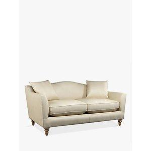 Croft Collection Melrose Medium 2 Seater Leather Sofa, Dark Leg, Contempo Ivory
