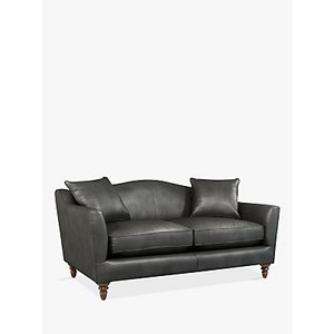 Croft Collection Melrose Medium 2 Seater Leather Sofa, Dark Leg, Winchester Anthracite