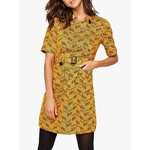 Damsel In A Dress Doria Abstract Print Mini Dress, Yellow/red