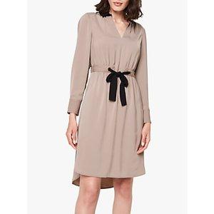 Damsel In A Dress Hannah Colourblock Tunic Dress Mocha/Black, Mocha/Black