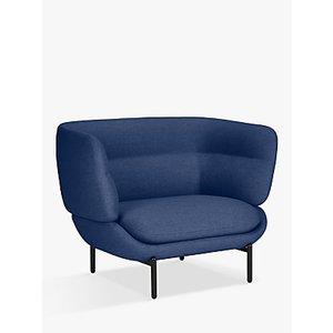 Doshi Levien For John Lewis Pondok Snuggler, Black Leg, Camira Silk Chancellor Blue