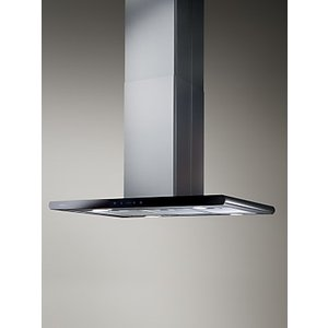 Elica Galaxy Island Chimney Cooker Hood, Stainless Steel/Black Glass