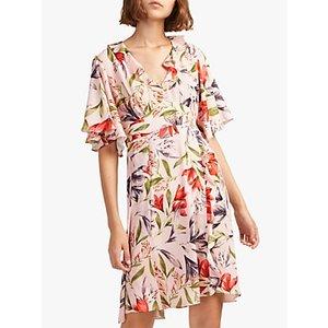 French Connection Cadencia Crepe Mini Dress, Light Sweet Pea Multi