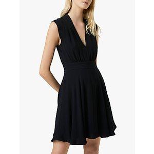 French Connection Carrabelle Crepe V-neck Dress Black, Black