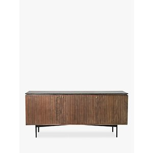Gallery Direct Bari Marble Sideboard, Black/brown