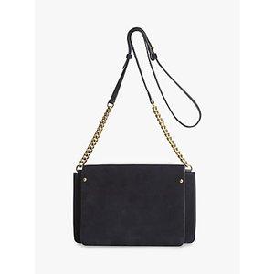 Gerard Darel Box Leather Medium Shoulder Bag, Blue Womens Accessories