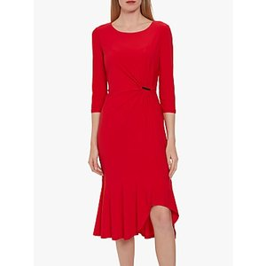 Gina Bacconi Rosella Jersey Dress Red, Red