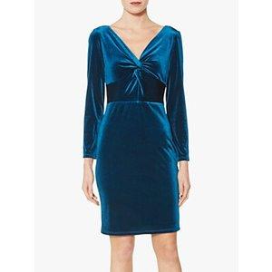 Gina Bacconi Spencer Knot Mini Dress Teal, Teal