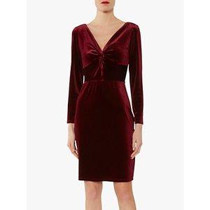 Gina Bacconi Spencer Knot Mini Dress Wine, Wine