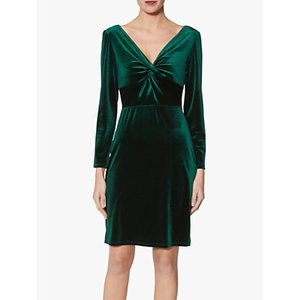 Gina Bacconi Spencer Knot Mini Dress Dark Green, Dark Green