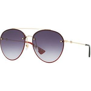 Gucci Gg0351s Women's Aviator Sunglasses Womens Accessories, Gold/Purple Gradient