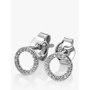 Hot Diamonds Infinity 9ct White Gold Diamond Stud Earrings