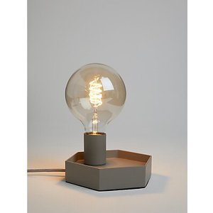 House By John Lewis Hex Bulbholder Table Lamp