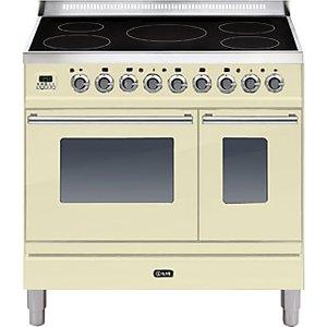 Ilve Pdwi90e3 Roma Induction Freestanding Range Cooker, Cream