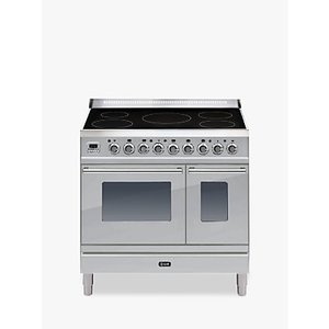 Ilve Pdwi90e3 Roma Induction Freestanding Range Cooker, Stainless Steel