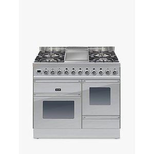 Ilve Ptw100fe3 Roma Dual Fuel Freestanding Range Cooker, Stainless Steel