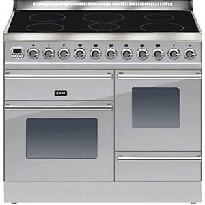 Ilve Ptwi100e3 Roma Induction Freestanding Range Cooker, Stainless Steel