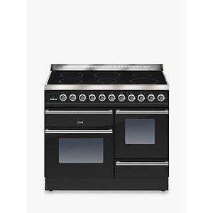 Ilve Ptwi100e3 Roma Induction Freestanding Range Cooker, Gloss Black