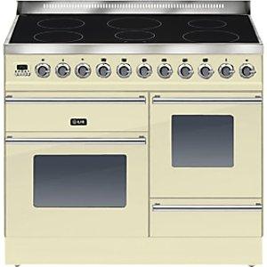 Ilve Ptwi100e3 Roma Induction Freestanding Range Cooker, Cream