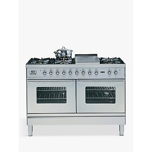 Ilve Roma Pdw120fe3 120cm Dual Fuel Range Cooker, A Energy Rating,, Stainless Steel