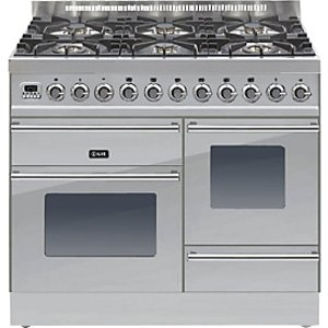 Ilve Roma Ptw1006e3 Dual Fuel Freestanding Range Cooker, Stainless Steel