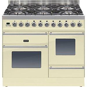 Ilve Roma Ptw1006e3 Dual Fuel Freestanding Range Cooker, Cream