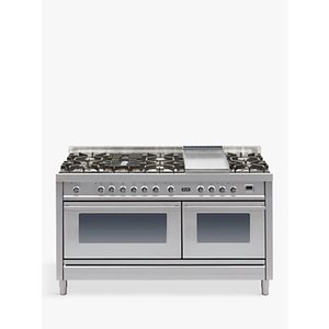 Ilve Roma Pw150fe3 150cm Dual Fuel Range Cooker, A Energy Rating, Stainless Steel