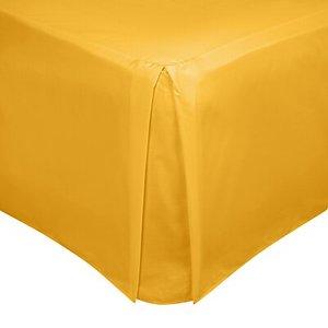 John Lewis & Partners 200 Thread Count Polycotton Centre Pleat Valance Mustard House Accessories, Mustard