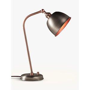 John Lewis & Partners Baldwin Desk Lamp, Pewter/Copper