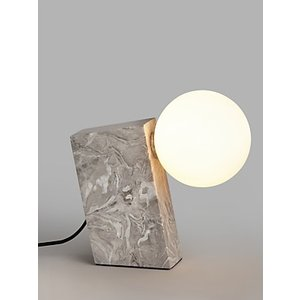 John Lewis & Partners Block Marble Table Lamp, Grey