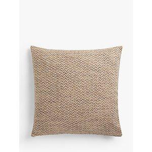 John Lewis & Partners Boucle Weave Cushion, Plum / Ochre