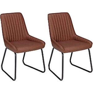 John Lewis & Partners Brooks Side Dining Chairs, Set Of 2, Tan