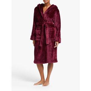 John Lewis & Partners Cece Shimmer Fleece Robe, Tibetan Red
