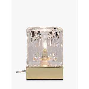 John Lewis & Partners Cuboid Touch On/off Table Lamp, Brass