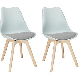 John Lewis & Partners Dima Dining Chairs, Set Of 2, Mineral Blue