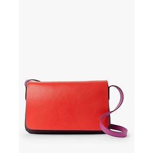 John Lewis & Partners Eden Leather Slim East/west Cross Body Bag Womens Accessories, Purple