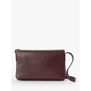 John Lewis & Partners Eden Leather Slim East/west Cross Body Bag Womens Accessories, Burgundy