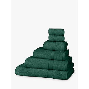 John Lewis & Partners Egyptian Cotton Towels, Dark Evergreen