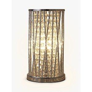 John Lewis & Partners Emilia Crystal Table Lamp, Clear