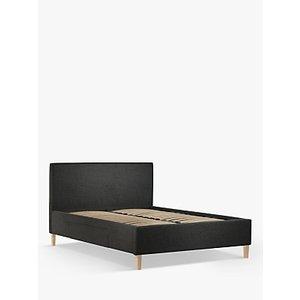 John Lewis & Partners Emily 2 Drawer Storage Upholstered Bed Frame, King Size, Saga Charcoal