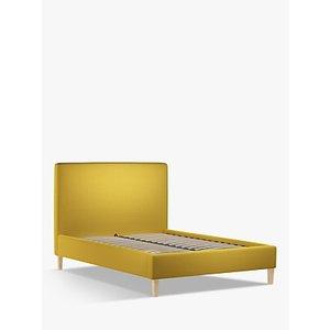 John Lewis & Partners Emily Upholstered Bed Frame, Double, Saga Mustard