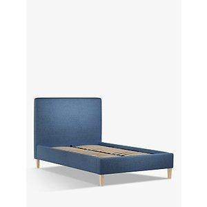 John Lewis & Partners Emily Upholstered Bed Frame, Small Double, Saga Ocean