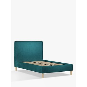 John Lewis & Partners Emily Upholstered Bed Frame, Small Double, Opulence Teal