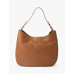 John Lewis & Partners Freya Leather Hobo Bag Womens Accessories, Tan