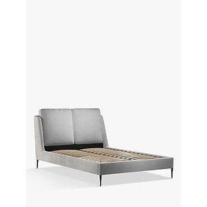 John Lewis & Partners Giorgio Upholstered Bed Frame, King Size, Opulence Steel