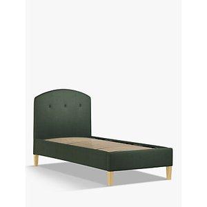 John Lewis & Partners Grace Child Compliant Upholstered Bed Frame, Single, Marylamb Sage Green