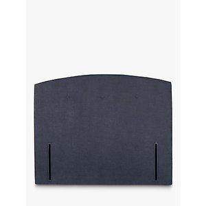 John Lewis & Partners Grace Full Depth Upholstered Headboard, Small Double, Erin Midnight