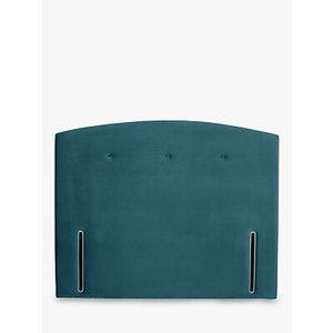 John Lewis & Partners Grace Full Depth Upholstered Headboard, Small Double, Opulence Teal