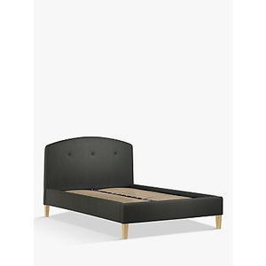 John Lewis & Partners Grace Upholstered Bed Frame, Double, Topaz Charcoal